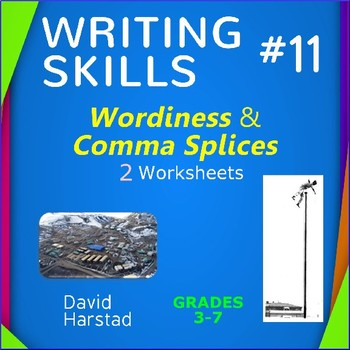 Writing Skills | Wordiness & Comma Splices - 2 Printable Worksheets (Grades 3-7)