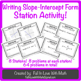 Writing Slope-Intercept Form Station Activity!