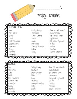 Writing Snapshot