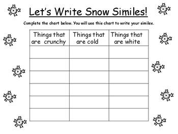 Writing Snow Similes