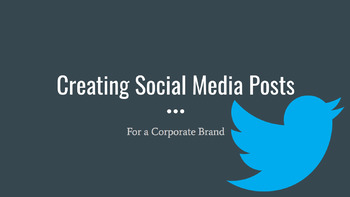 Writing Social Media Posts for a Corporate Brand