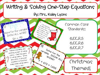 Writing & Solving Equations-Christmas Themed!!!