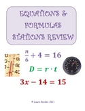 Writing & Solving Equations & Formulas Stations Review Activity