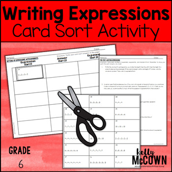 Writing Expressions with Exponents Card Sort Activity Lesson