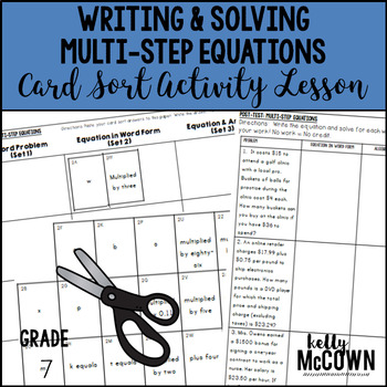Writing & Solving Multi-Step Equations