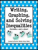 Writing, Solving, and Graphing Inequalities - 6.EE.B.5 and 7.EE.B.4.b