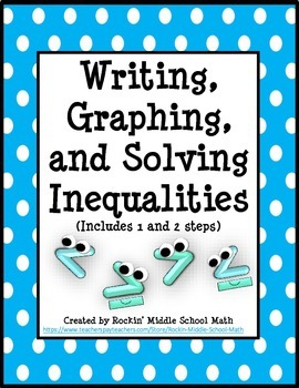 Writing, Solving, and Graphing Inequalities - 6.EE.B.5 and
