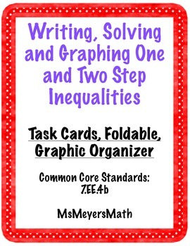 Writing 2 Step Inequalities Teaching Resources Teachers Pay Teachers