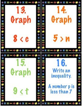 Writing, Solving and Graphing One and Two Step Inequalities 7.EE.4b