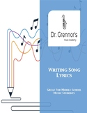 Writing Song Lyrics Cross Curricular Music Project