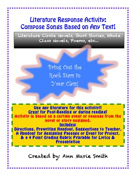 Writing Songs About Texts: Reading Comprehension Activity