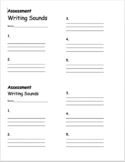 Writing Sounds Assessment Template