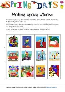 Writing Spring Stories (freebie)
