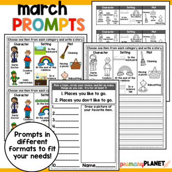 Writing Prompts with a Twist: Spring/Summer Printable Writing Activities BUNDLE!