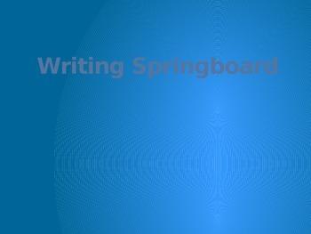 Writing Springboard