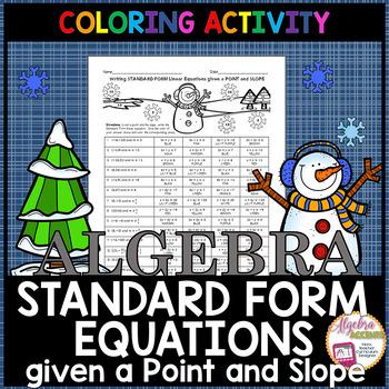 Christmas Algebra: Writing Linear Equations in Standard Fo
