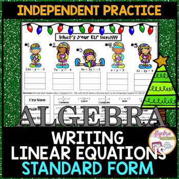 Writing Linear Equations in Standard Form Practice (Christ
