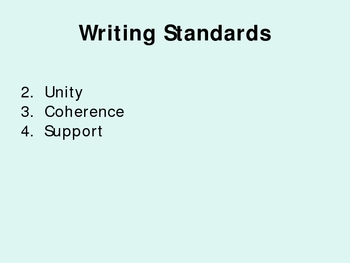 Writing Standards and Strategies