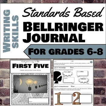 Writing Standards Based Bellringer Journal for Gr. 6-8