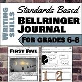 Writing Standards Based Bell Ringer Journal for Gr. 6-8