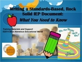 Writing Standards-Based IEP Documents Training Powerpoint