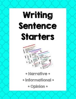 Writing Starters Charts