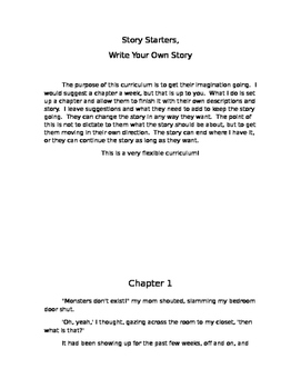 Writing Starters, Create Your Own Story   Unit A