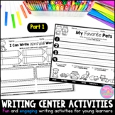 Writing Center Activities for Young Learners {Part 1}