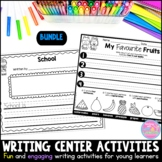 Writing Center Activities for Young Learners Bundle Distan
