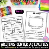 Writing Center Activities for Young Learners {Part 2} Dist
