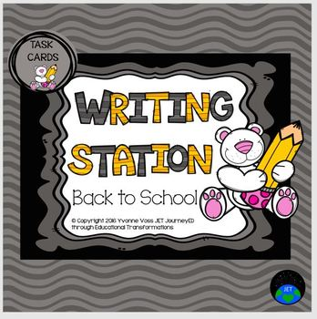 Writing Station Back to School Bear