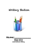 Writing Station Book/Journal (aligned to common core)