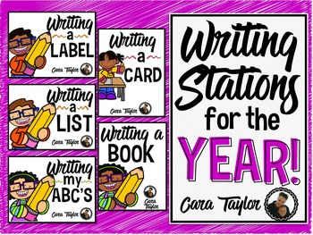 Writing Station Centers for the Year Bundle!