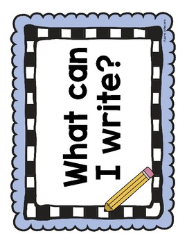 Writing Station Heading Posters