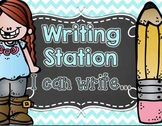 Writing Station- I Can Write... {Writing Paper Included!}