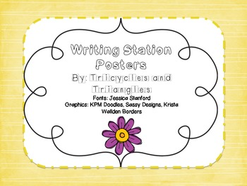 Writing Station (I can write) Mini posters with examples