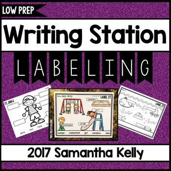 Writing Station - Labeling