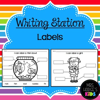 Writing Station- Labels!
