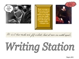 Writing Station: Learning Center Label
