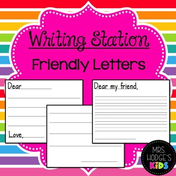 Writing Station- Letter Writing!