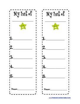 Writing Station Lists