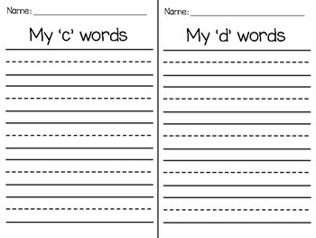 Writing Station- Making Lists!