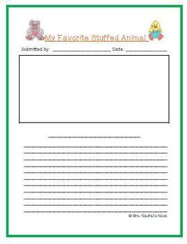 Recount Writing - Favorite Stuffed Animals (American Spelling)