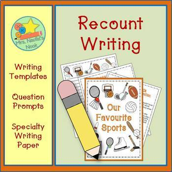 Recount Writing - Favourite Sports (Canadian Spelling)