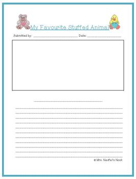 Recount Writing - Favourite Stuffed Animals (Canadian Spelling)