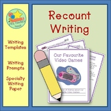 Recount Writing - Favourite Video Games (Canadian Spelling)