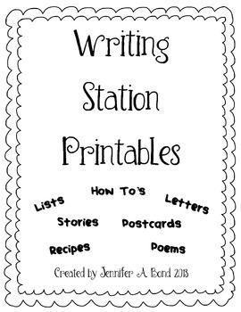 Writing Station Printables