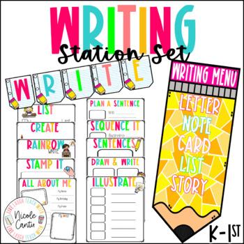 Writing Station Set- Pre K - 1st Grade Friendly