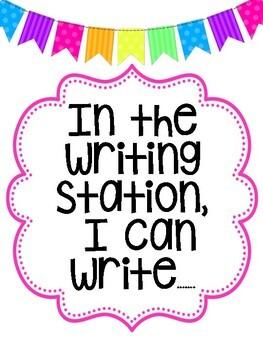 Writing Station Set Up!