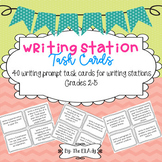 Writing Station Task Cards for 2nd- 5th Grades